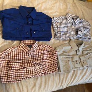 J.ferrar dress shirt bundle (2 long sleeve shirts)